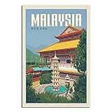 Vintage-Reise-Poster Malaysia, Leinwand, Kunstdruck, Bild,