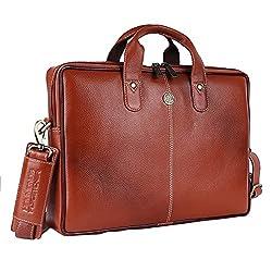 Hammonds Flycatcher Genuine Leather 13 inch Messenger Bag,Hindustan Foam,LMB105TAN