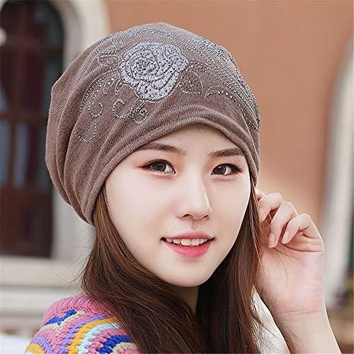 Women's hoed herfst- en wintermuts, dik, grote Quai-handdoek, met hoed, voor fietshelm