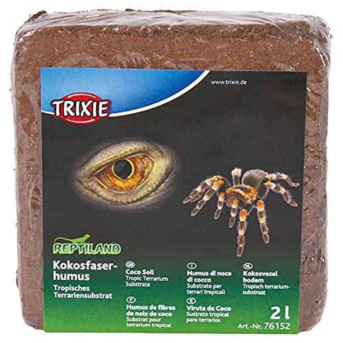 TRIXIE Set de Suelo Coco, Sustrato Tropical, 2 l, Reptiles