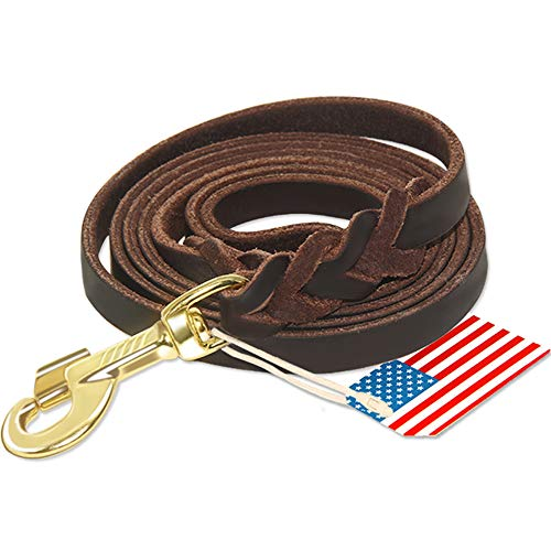 Highland Farms Select Premier 6ft Leather Dog Training Leash. Made from Leather and is a Great Option