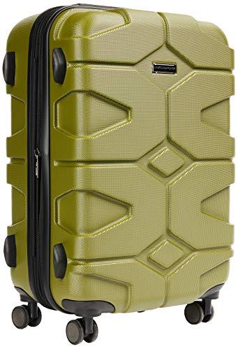 HAUPTSTADTKOFFER - X-Kölln - Handgepäck Trolley, Bordgepäck, Koffer, Volumenerweiterung, TSA, 4 gummierte Doppelrollen, 55 cm, 50 L, Olivgrün matt