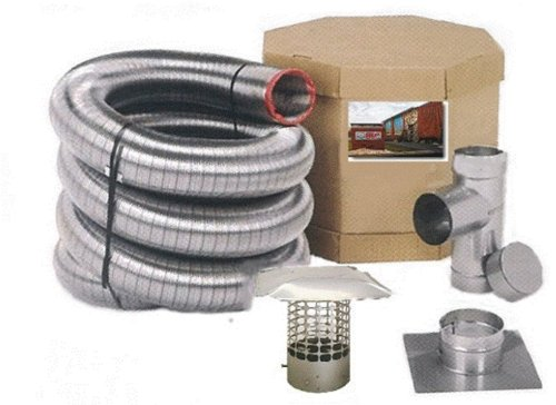 Best Deals! Forever Vent FL425SSK 4-Inch x 25-Feet Single Ply Chimney Liner, Stainless Steel