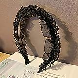 WanBeauty Diadema de encaje plisado para el pelo, accesorio para mujeres y niñas, gran regalo 3 #