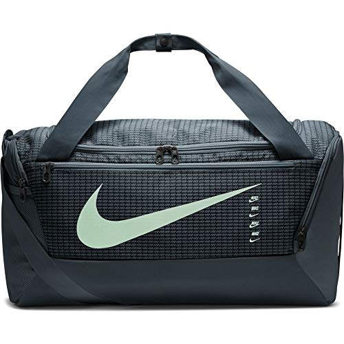 Nike Brasilia Training Duffle Bag (Medium), grigio fumo/nero