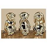 Affen 3-er Set Porzellan Dekoration Geschenk