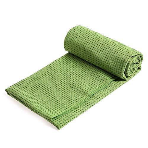 Momoxi Yogamatte rutschfestes Handtuch Yogadecke Yogamatte Handtuch 183X63cm gerader Punkt grün 2020 Fitness Für Zuhause, Gesund Garten hudora Trampolin schaukel mit rutsche Quadro