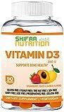 Vegetarian Vitamin D3 Gummies 2000 IU   90 Gummies, 45 Servings   Non-GMO, Gluten-Free, Gelatin-Free, Dairy-Free   Support for Bones, Muscles & Immune System   SHIFAA NUTRITION   Halal Vitamins