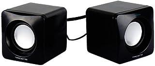 Tacens Anima AS1 - Altavoces para ordenador (8W, sistema de canal 2.0, alimentación por USB, conexión Jack 3.5mm, tamaño reducido) color negro