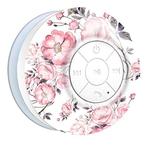Aduro AquaSound WSP20 Shower Speaker, Portable Waterproof Wireless Bluetooth Speaker (Floral)
