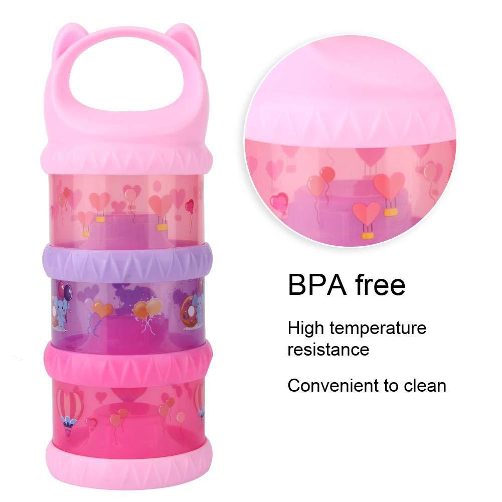 Blau 3 Farben Babymilchpulver Box Aufbewahrung BPA-frei ungiftig und sicher f/ür Kinder Baby Kleinkind mit tragbarem Griff dreischichtiger Milchpulverspender Lebensmittelbeh/älter