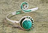 Turquoise Toe Ring - 925 Sterling Silver Feet Body Jewellery Adjustable Toe Ring, Midi Ring For Girls Women Gift Jewellery