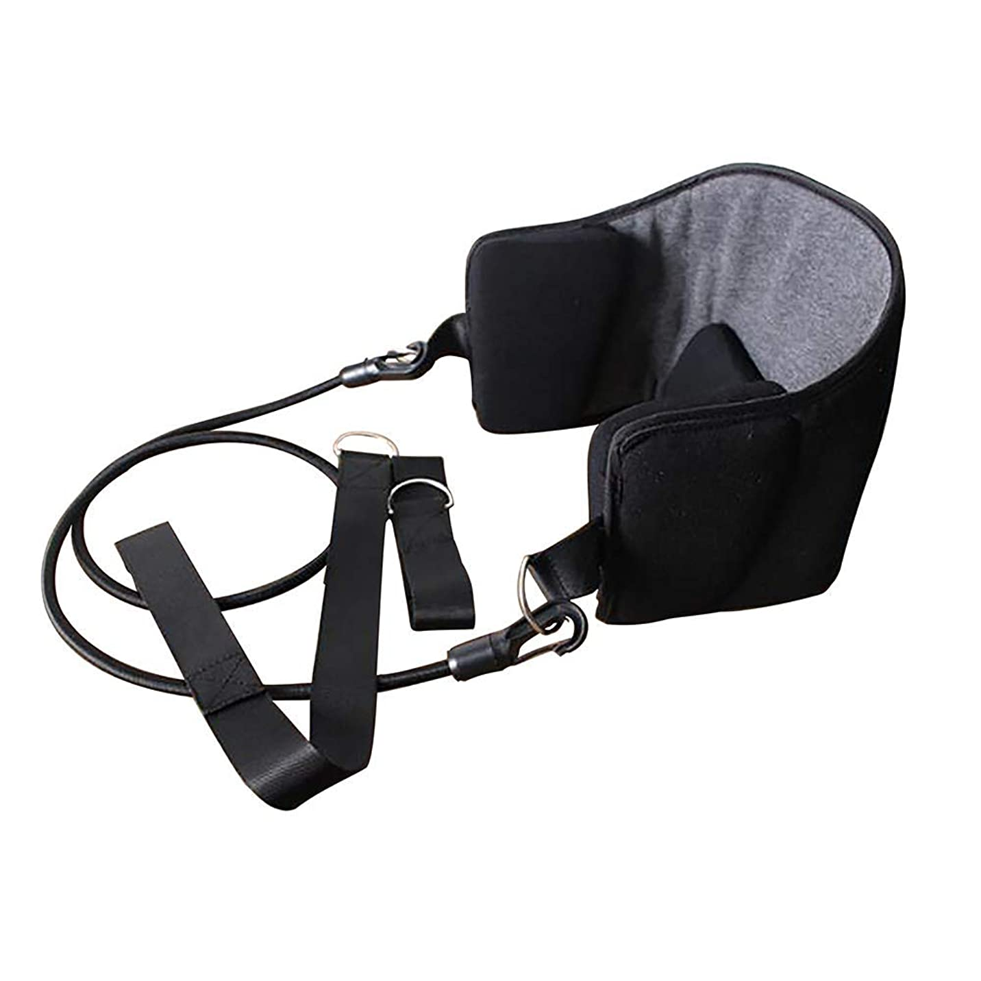 自転車進化書き出す頸椎牽引装置、背中および肩の痛みに使用する携帯用首痛緩和マッサージ、オフィスワーカーに最適、教師