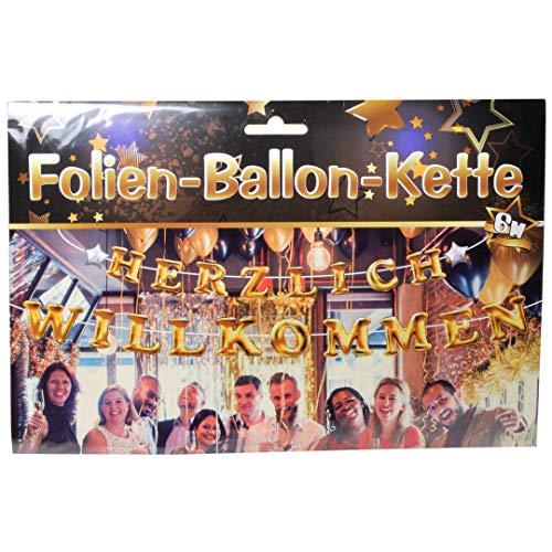 Onbekend 1 folie ballon ketting hartelijk welkom 20 afzonderlijke ballonnen incl. snoer