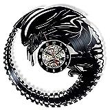 LKJHGU Reloj de Pared con Disco de Vinilo Extraterrestre, diseño Moderno, decoración 3D, Reloj de Pared con Registro de Vinilo Vintage, Reloj de Pared, decoración de Dormitorio