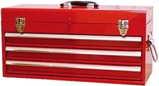 JTC JTC工具箱3段式 赤 ハンドツール 工具箱 トップチェスト 3段引き出し ベアリングレール 鍵付  JTC3ER