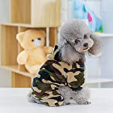 MYYXGS Hundetarnmantel Hundemantel Weste Vierbeinige Tarnkleidung Hundewinter Warme Kleidung M