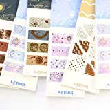BLOUR Cute New Gold Foil School Student Diary Scrapbooking Washi Paper Label Stickers Set Stationery 40 Piezas