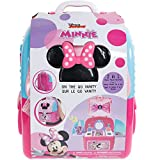 Disney Minnie Mouse - Townley Girl Cosmetic Backpack Vanity Makeup Set Includes Hair Bow, Nail Polish, Glitter, Nail File and more! for Kids Girls, Ages 3+ perfect for Parties, Sleepovers & Makeovers