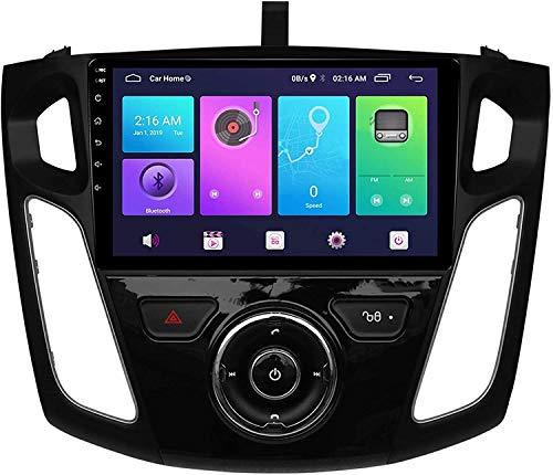 Coche GPS Navegación Auto Estéreo De 9 Pulgadas para Ford Mondeo 2004-2007 Ford Focus 2015-2018 Radio Android BT Llamada De Manos Libres,8core 4g WiFi:4+64gb
