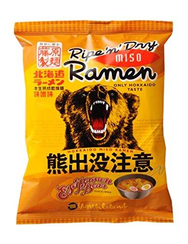 藤原製麺 北海道熊出没注意ラーメン 味噌味 114g