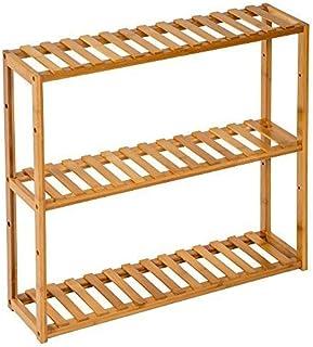 TecTake Estantería de madera bambú - varios modelos - (3 niveles | 60x15x54.5cm | No. 401648)