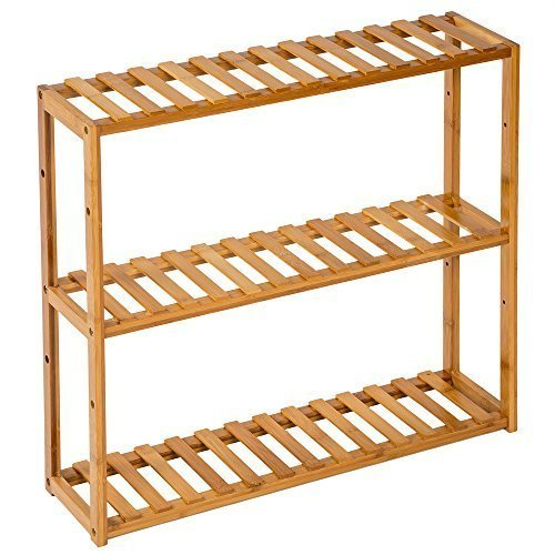 TecTake Standregal Haushaltsregal Badregal Holz - Diverse Modelle - (3 Böden | 60x15x54.5cm | Nr. 401648)