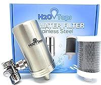 H2O TAPS Filtro de Agua para Grifo | Acero Inoxidable y Diseño Elegante | Filtro doméstico y de Calidad | Sistema de Filtración de Agua | La Elección Duradera