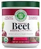 Green Foods - Organic Beet Essence Juice Powder- Nitric Oxide Super Food, Wholefood Antioxidant,...