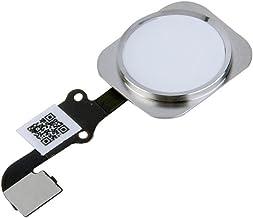 REY Botón Home de Menú Compatible con iPhone 6, Botón Completo con Cable Flex y Touch ID (Lector de Huella), Blanco