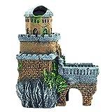 LXYY Decoración De Paisajismo del Tanque De Peces del Acuario del Naufragio del Castillo, Piel Casera De La Resina del Vintage