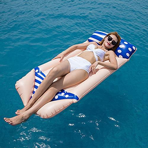 Wasser Hängematte Pool Float für Erwachsene Aufblasbares Schwimmbett Reihe Bikini-Muster Hochleistungs-Schwimmluftkissen für Tragbarer Pool Float Liegestuhl Drifter,luftmatratze pool,180x80cm
