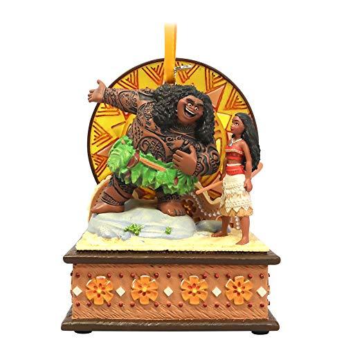 Disney Moana and Maui Singing Living Magic Sketchbook Ornament