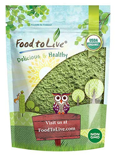 Organic Wheatgrass Powder, 1 Pound — Non-GMO, Whole-Leaf, Raw, Non-Irradiated, Pure, Vegan Superfood, Bulk, Great for Juice, Rich in Fiber, Chlorophyll, Fatty Acids and Minerals
