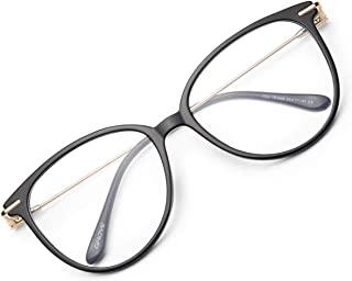 Blue Light Blocking Glasses Women/Men, Fashion Round Cateye Frame UV Ray Filter Computer Gaming Glasses - GY1696
