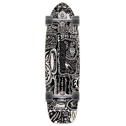 YOW Dark Pukas X Surf Skateboard 87,6 cm, multicolore