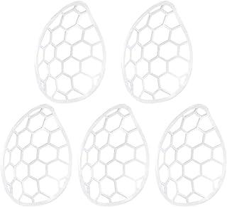 インナーマスクメイクキープフレームマスクブラケット ひんやりプラケット 3d鼻マスククッション インナーサポートブラケットマスクアクセサリーマスクフックマスクラック口紅の保護花の化粧を防ぐ (5枚入 /ホワイト)