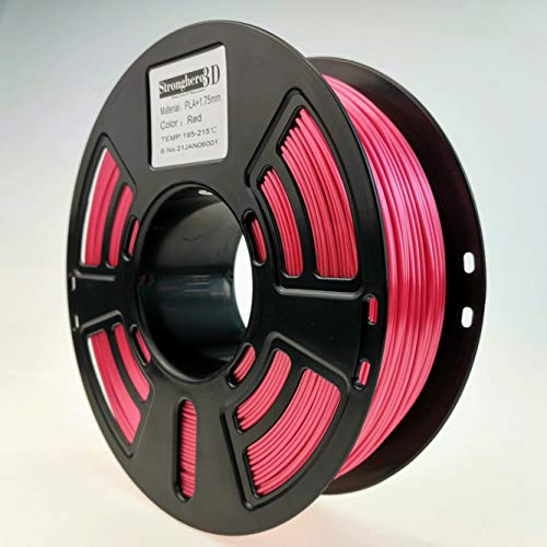 Stronghero3D Desktop FDM 3D Printer Filament PLA Red 1.75 mm 1 kg (2.2 lbs) Dimension Accuracy of +/- 0.05 mm for Ender3 Cr10