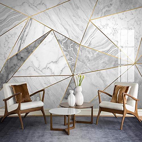 IWJAI Fotomurales 3D Mármol patrón triángulo pared vinilos decorativos papel fotografico 3D Fondos de pantalla Fondo Pared Sala de estar Dormitorio TV Sofá Mural Papel tapiz