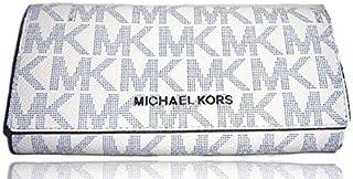 Michael kors 35T8STVE7B jet set travel carryall navy white MK logo organizer clutch wallet - Navy/White