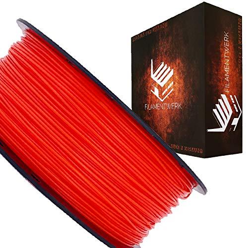 Filamentwerk 3D-Drucker PET-G 1,75mm 1kg Spule Rolle (Neon Rot)