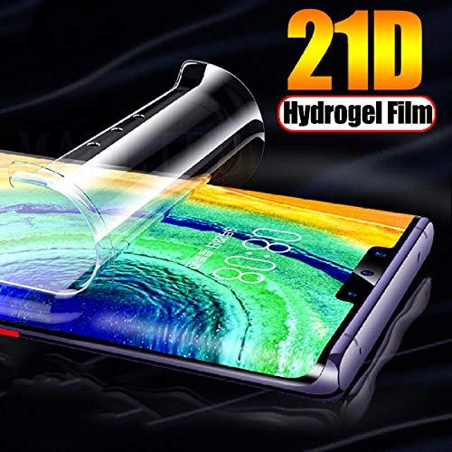 PANGLDT [3 Piezas] Película de hidrogel Completa 21D para Motorola Moto One Vision Z2 Z3 Play Protector de Pantalla TPU Suave Frontal Moto G7 G6 G5s E5 Plus (no Vidrio)-para Moto E5 Plus