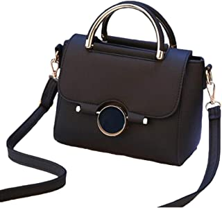 Women Bags Brand Female Handbag Crossbody Bags Fashion Mini Shoulder Bag for Teenager Girls with Sequined Lock Gifts,Black,S