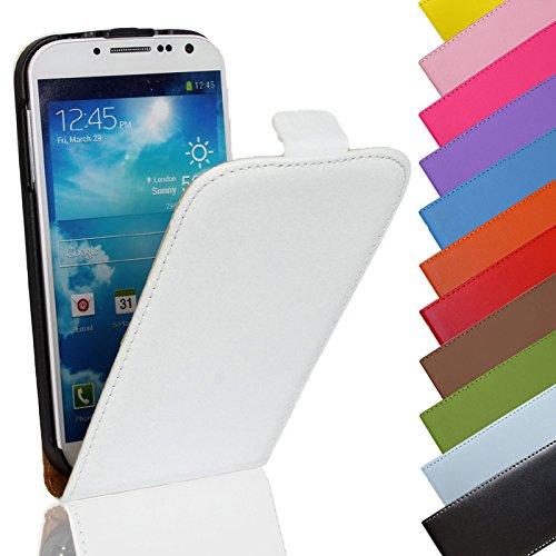 Eximmobile - Flip Hülle Handytasche für Microsoft Lumia 550 in Weiss   Kunstledertasche Microsoft Lumia 550 Handyhülle   Schutzhülle aus Kunstleder   Cover Tasche   Etui Hülle in Kunstleder