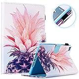 FANCITY Schutzhülle für iPad Mini 4, iPad Mini 5, Smart Mini 3, Mini 2, Leder, automatische Schlaf- & Weckfunktion, mit Ständer, Kartenschlitz, Stifthalter, für iPad Mini 7,9 Zoll, Ananas