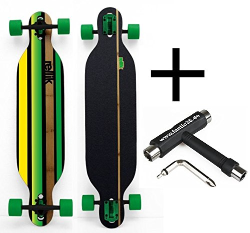 Rellik Longboard Green Straightline Drop-Through 38
