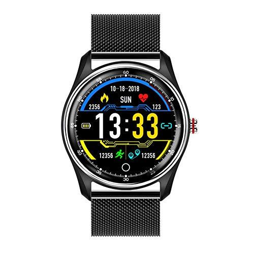 ZHICHUAN Mx9 Men Smart Watch, Ecg + Ppg Hrv, Monitor de Presión Arterial con Pulsera Impermeable Ip68 para Android Ios Moda/C