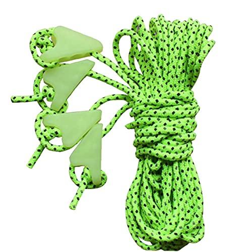 PJKKawesome Cuerda Aire Libre Verde Camping Línea Verde Reflectante Cuerda Cuerda Cuerda Cuerda Viento