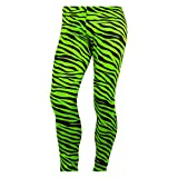 Men's Heavy Metal Pants Zebra Neon Green (Large)