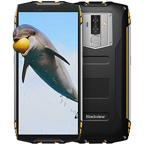 Blackview BV6800Pro móvil resistentes,6580mAh,4+64 GB ROM Dual SIM,5.7' FHD+18:9,16+13MP- Cámaras Duales Android 8.0 Movil IP69K,Octa-Core 1.5Ghz Rugged Phone,Face ID/NFC/GPS/Bluetooth